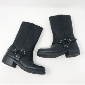 Frye Kid's Harness Pull On Black Boots Size 1